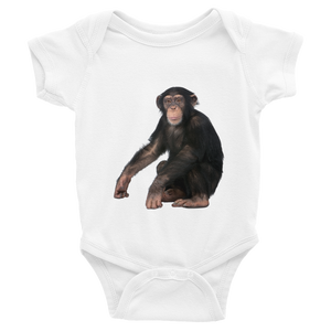 Chimpanzee Print Infant Bodysuit