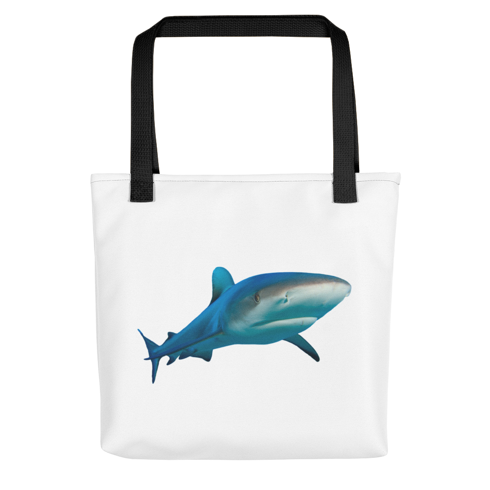 Great-White-Shark Print Tote bag