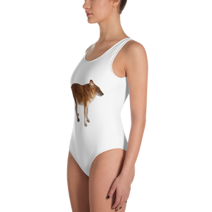 Dhole Print One-Piece Swimsuit