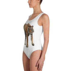 Bengal-Tiger Print One-Piece Swimsuit