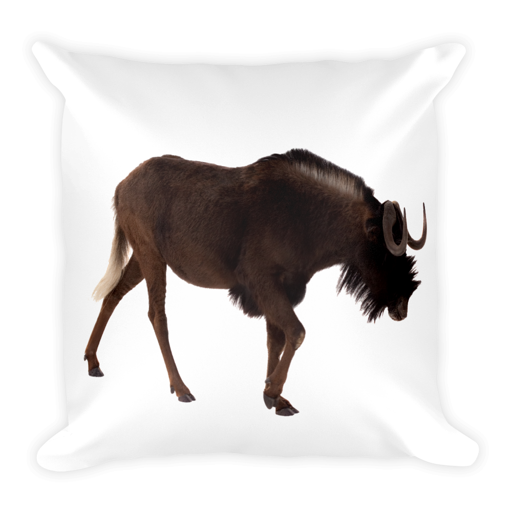 Wilderbeast Print Square Pillow