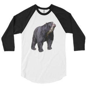 Specticaled-Bear print 3/4 sleeve raglan shirt