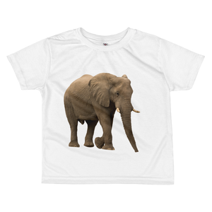 African-Forrest-Elephant Print All-over kids sublimation T-shirt