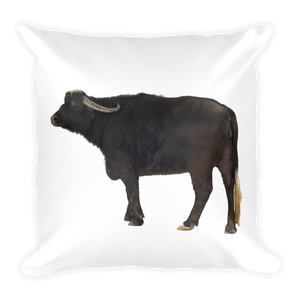 Water-Buffalo Print Square Pillow