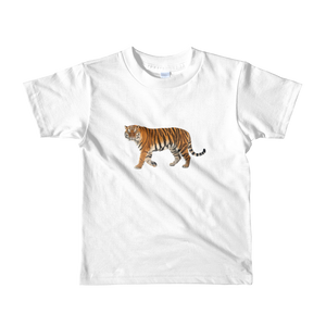 Siberian-Tiger Print Short sleeve kids t-shirt