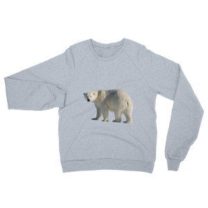 Polar-Bear print Unisex California Fleece Raglan Sweatshirt