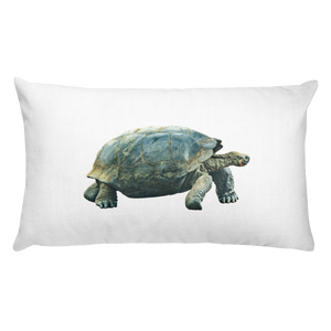 Galapagos-Giant-Turtle Print Rectangular Pillow