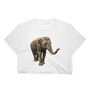 Indian-Elephant Print Women's Crop Top