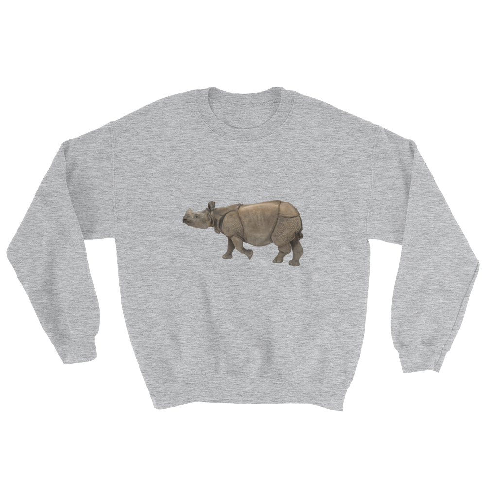 Indian-Rhinoceros Print Sweatshirt