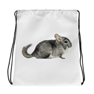 Chinchilla Print Drawstring bag