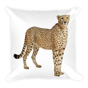 Cheetah Print Square Pillow