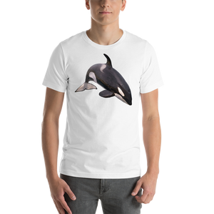 Killer Whale Print Short-Sleeve Unisex T-Shirt