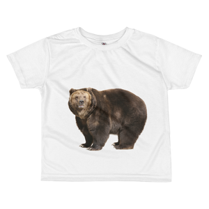 Brown-Bear Print All-over kids sublimation T-shirt