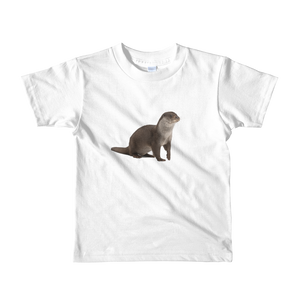European-Otter Print Short sleeve kids t-shirt