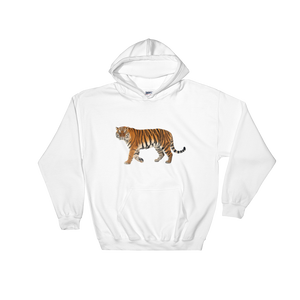 Siberian-Tiger Print Hooded Sweatshirt