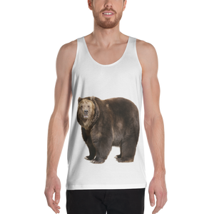 Brown Bear Print Unisex Tank Top