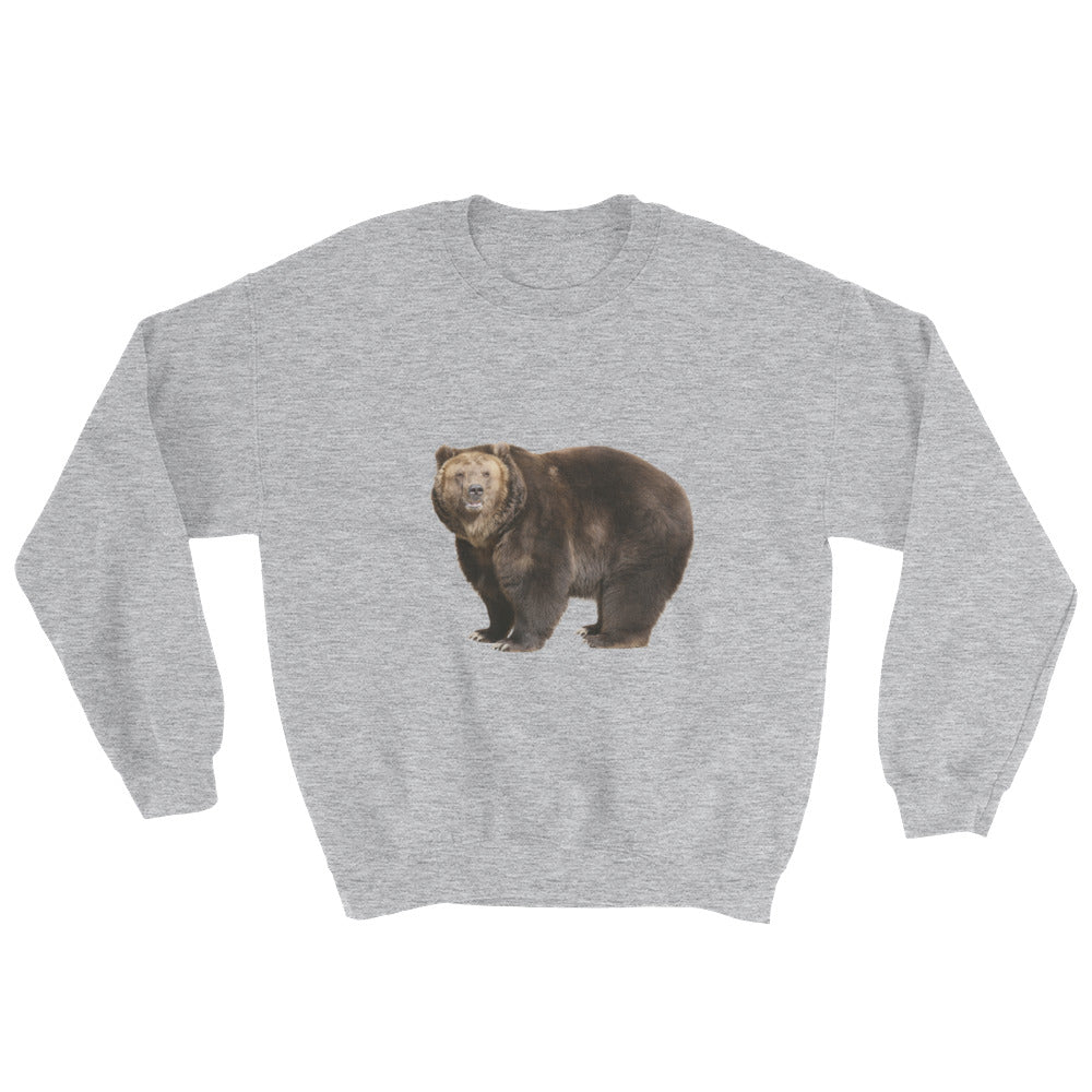 Brown-Bear Print Sweatshirt