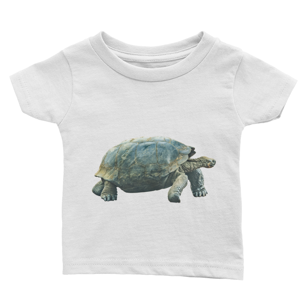 Galapagos-Giant-Turtle Print Infant Tee