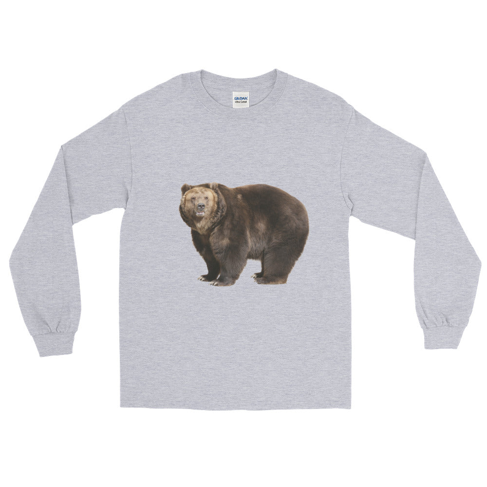 Brown-Bear Print Long Sleeve T-Shirt