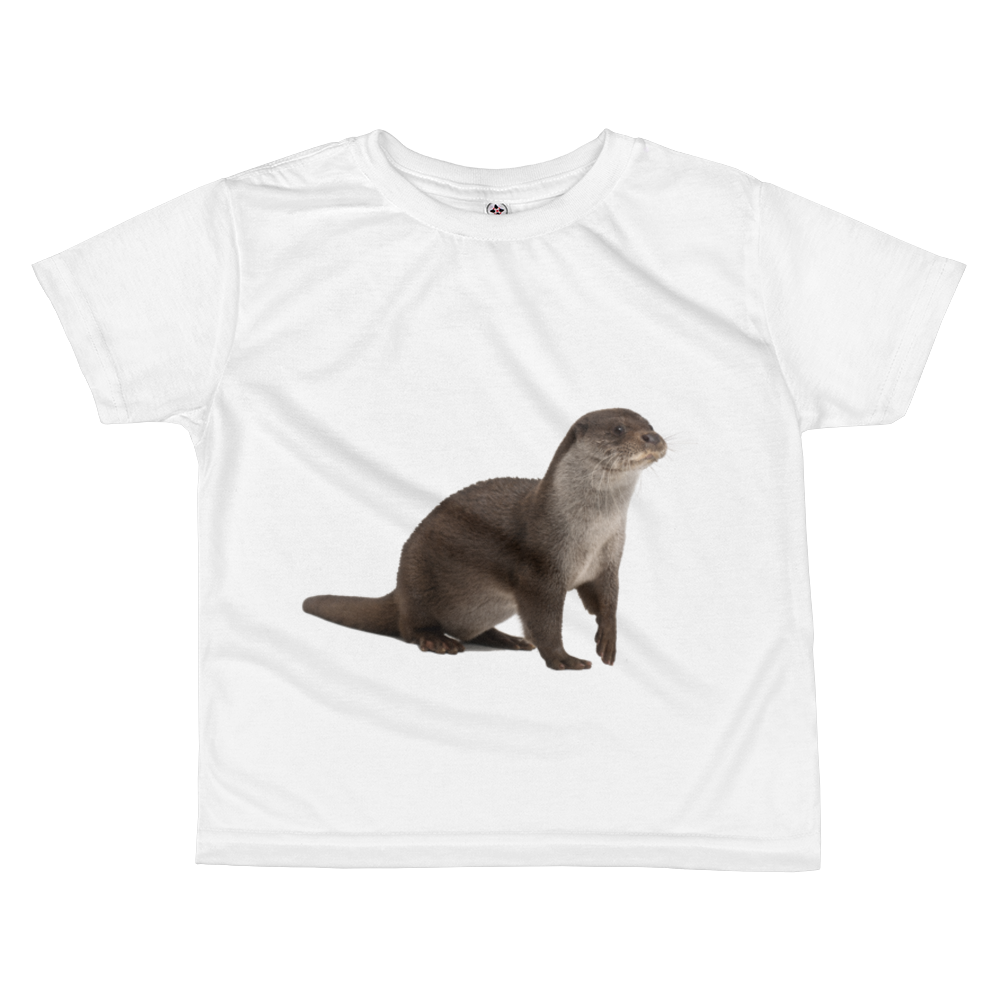 European-Otter Print All-over kids sublimation T-shirt