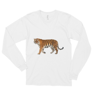 Siberian-Tiger Print Long sleeve t-shirt (unisex)