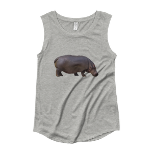 Hippopotamus Ladies‰۪ Cap Sleeve T-Shirt
