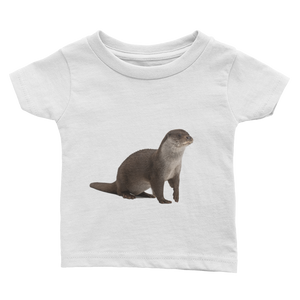 European-Otter Print Infant Tee