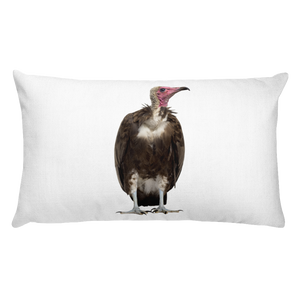 Vulture Print Rectangular Pillow
