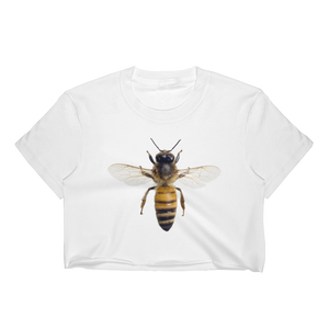 Honey-Bee Print Women's Crop Top