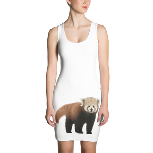 Red-Panda Print Sublimation Cut & Sew Dress