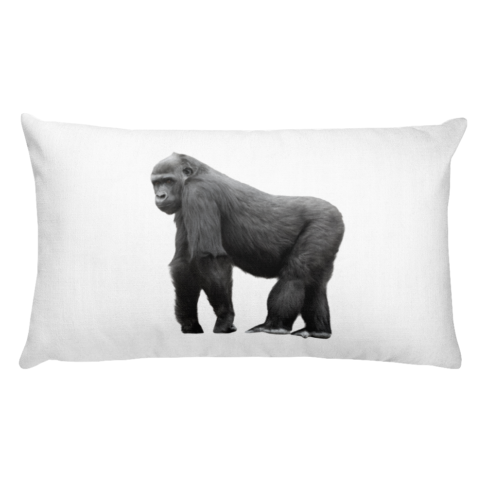 Gorilla- Print Rectangular Pillow