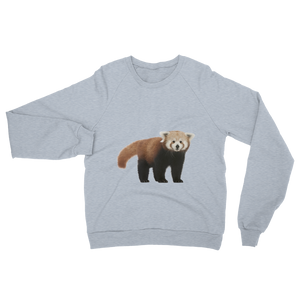 Red-Panda- print Unisex California Fleece Raglan Sweatshirt
