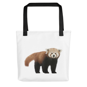 Red-Panda Print Tote bag