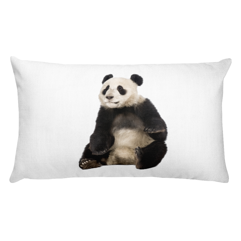 Giant-Panda Print Rectangular Pillow