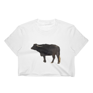 Water-Buffalo Print Women's Crop Top