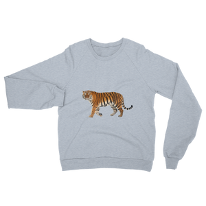 Siberian-Tiger print Unisex California Fleece Raglan Sweatshirt