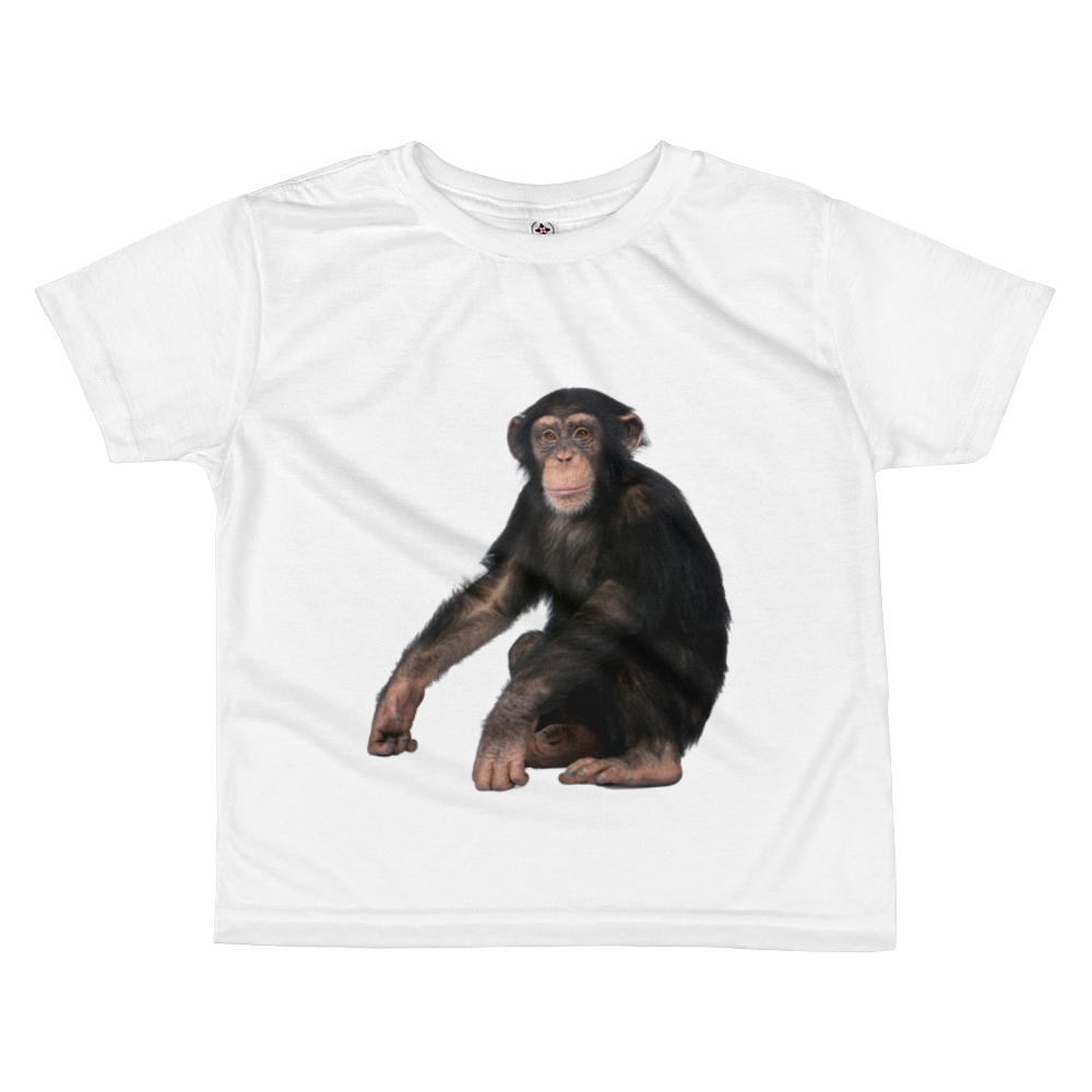 Chimpanzee Print All-over kids sublimation T-shirt