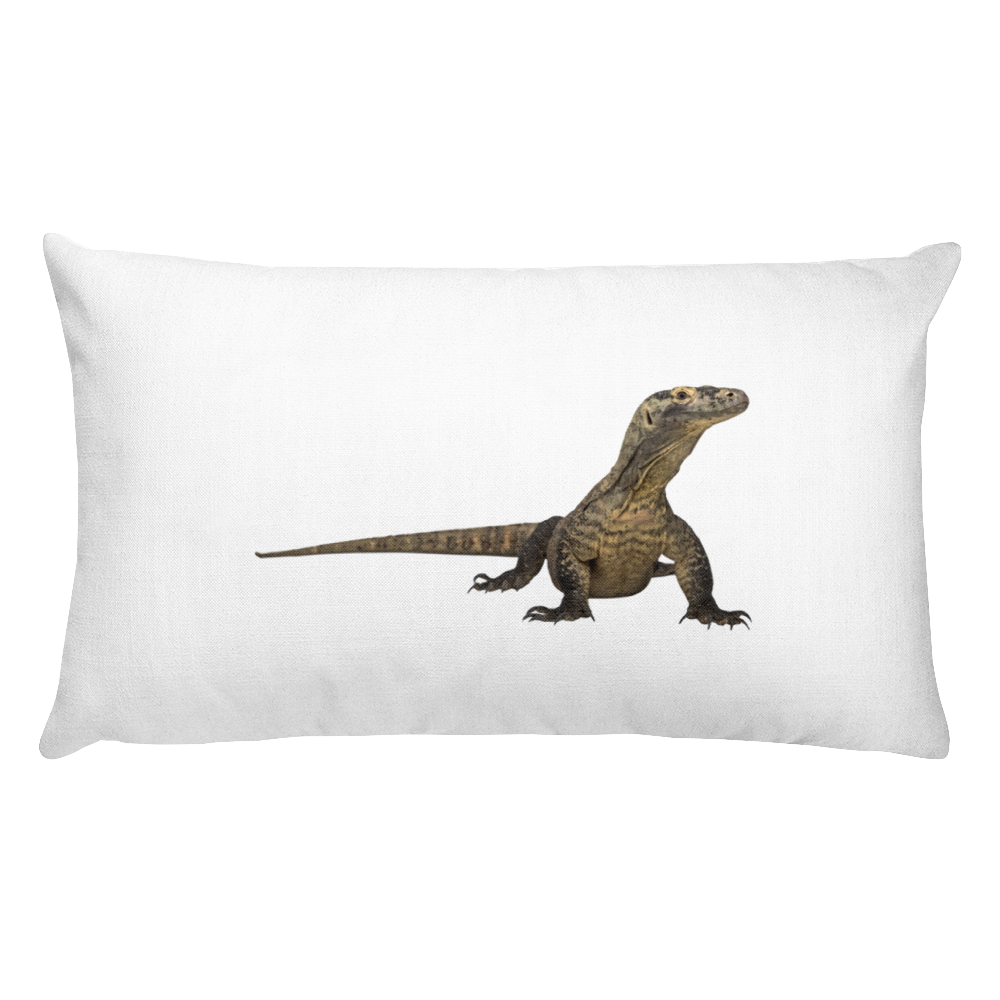 Komodo-Dragon Print Rectangular Pillow