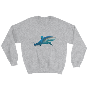 Great-White-Shark Print Sweatshirt