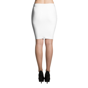 Great-White-Shark Print Pencil Skirt
