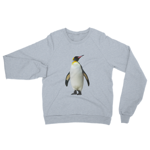 Emperor-Penguin print Unisex California Fleece Raglan Sweatshirt