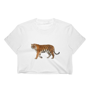 Siberian-Tiger Print Women's Crop Top
