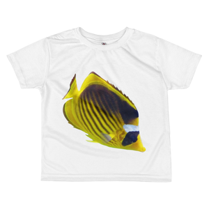 Butterfly-Fish Print All-over kids sublimation T-shirt