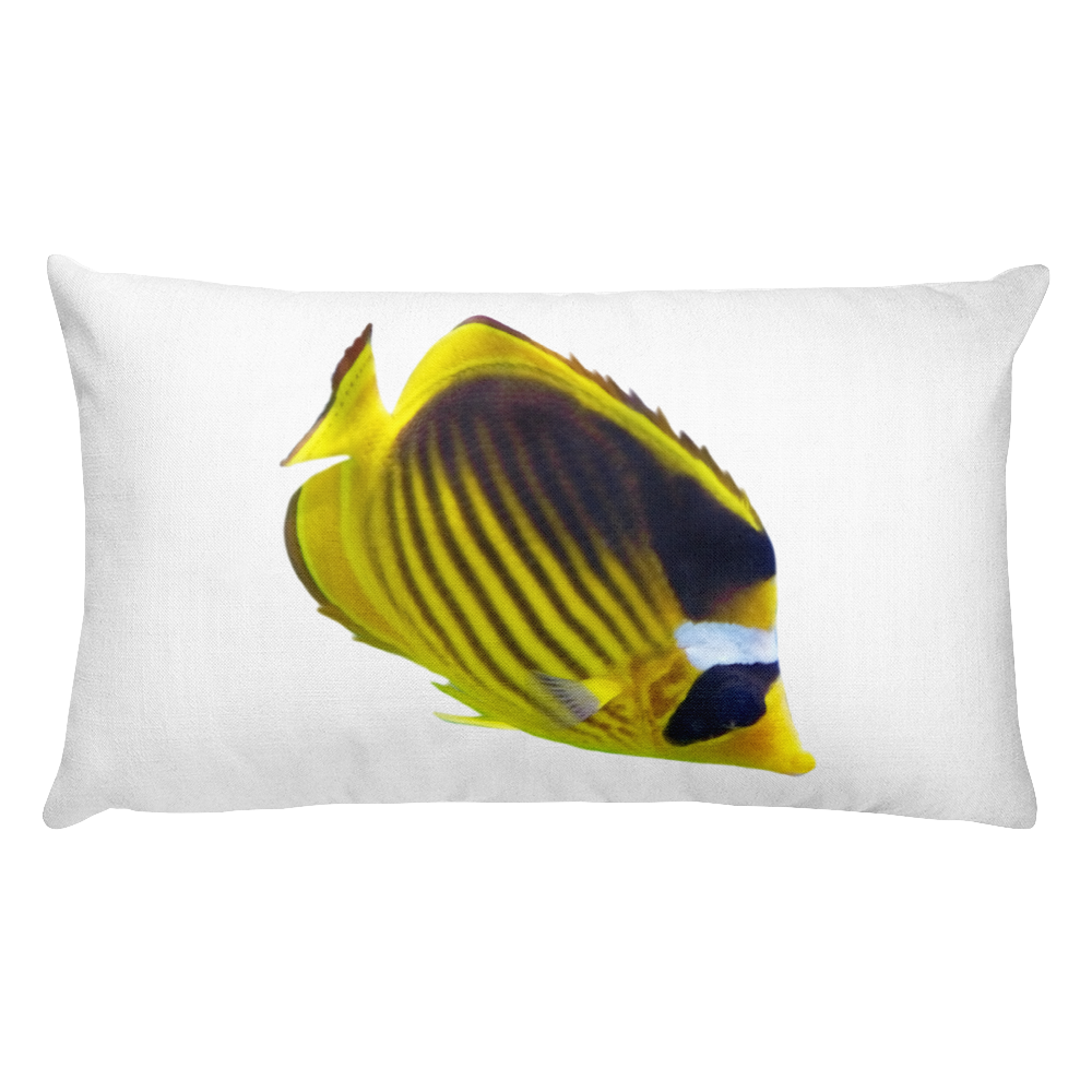 Butterfly-Fish Print Rectangular Pillow