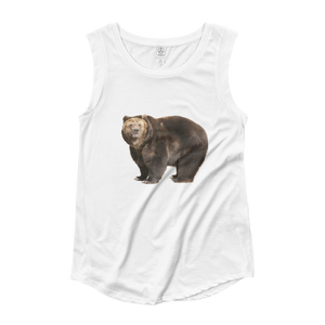 Brown-Bear Ladies‰۪ Cap Sleeve T-Shirt
