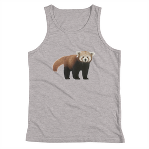Red-Panda Print Youth Tank Top