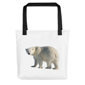 Polar-Bear Print Tote bag