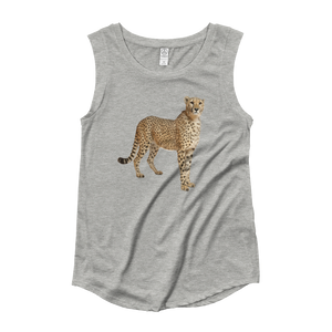 Cheetah Ladies‰۪ Cap Sleeve T-Shirt