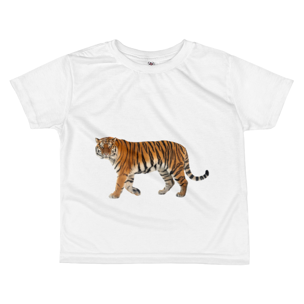 Siberian-Tiger Print All-over kids sublimation T-shirt