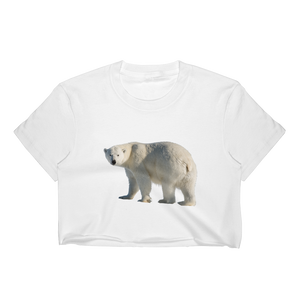 Polar-Bear Print Women's Crop Top